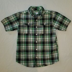 Boys Med7/8 Gymboree Short Sleeve ButtonUp Shirt